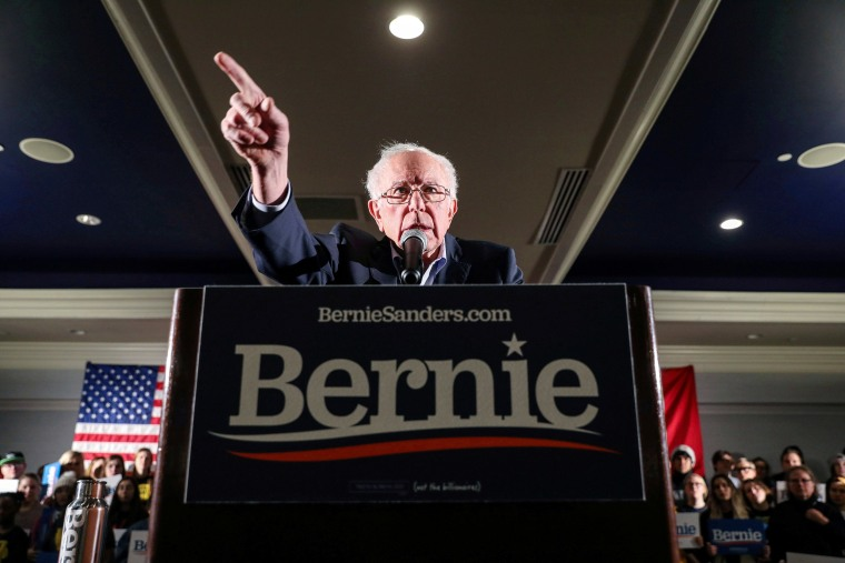 Image: Democratic U.S. presidential candidate Senator Bernie Sanders hosts a climate rally in Iowa City
