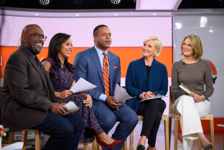"""From left to right: TODAY co-hosts Al Roker, Sheinelle Jones, Craig Melvin, and """"Comeback Careers"""" co-authors Mika Brzezinski and Ginny Brzezinski."""