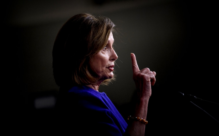 Image: Speaker of the House Nancy Pelosi attends a press briefing on Jan. 9, 2020.
