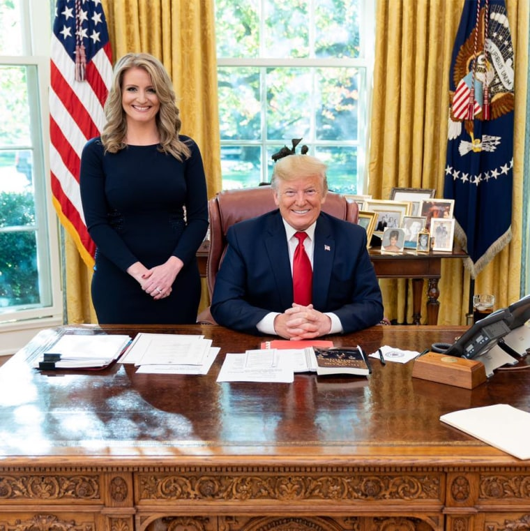 IMAGE: Jenna Ellis and President Donald Trump