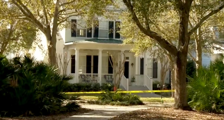 Image: An investigation is underway at a home in Celebration, Fla., after four people were found dead inside.