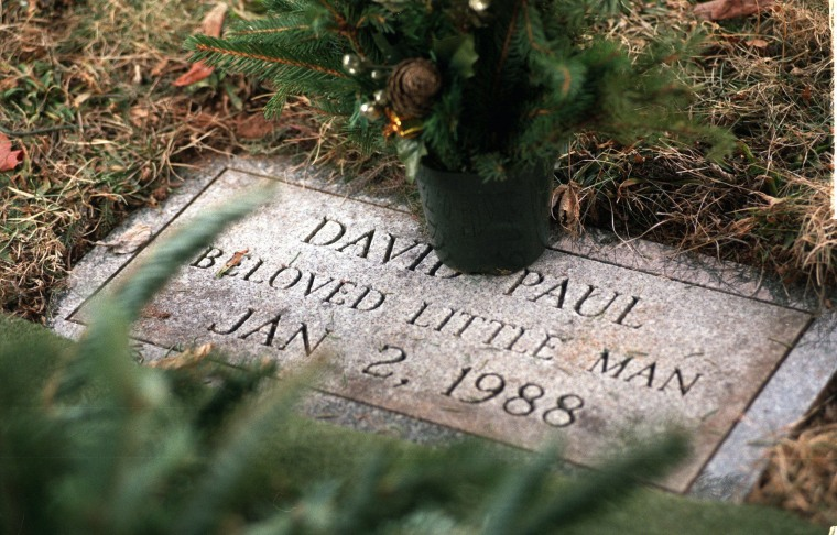 The grave of David Paul at Walnut Grove Cemetery in Meriden, Conn. January 1998.