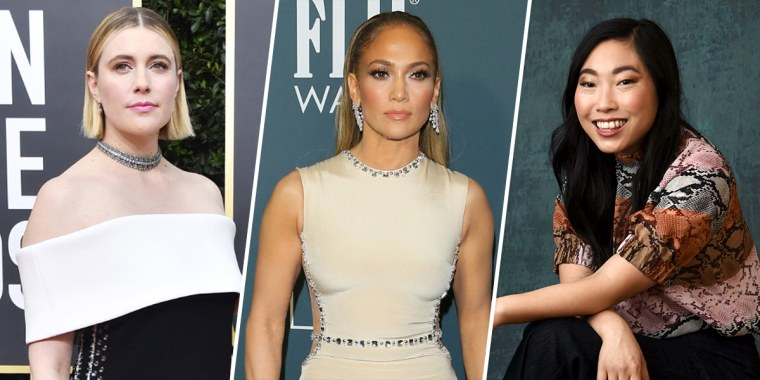 Greta Gerwig, Jennifer Lopez, and Awkwafina.