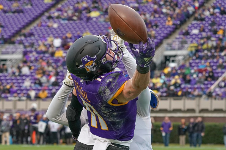 A game between the Tulsa Golden Hurricane and the East Carolina Pirates on Nov. 30, 2019 at Dowdy-Ficklen Stadium in Greenville, N.C.