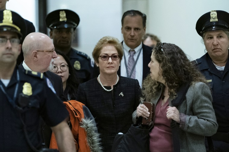 Former U.S. Ambassador To Ukraine Marie Yovanovitch Appears Before House Panels