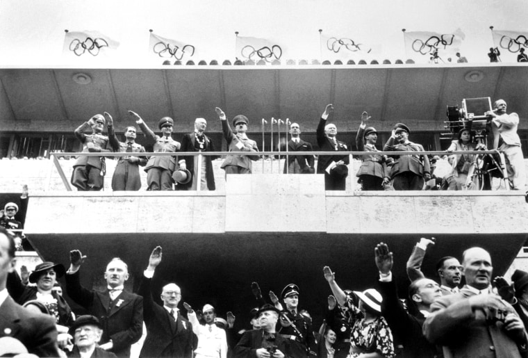 Adolf Hitler and Others at Olympiad