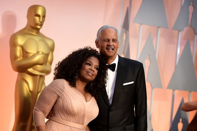 Image: Oprah Winfrey and Stedman Graham arrive to the Oscars in Los Angeles in 2015.