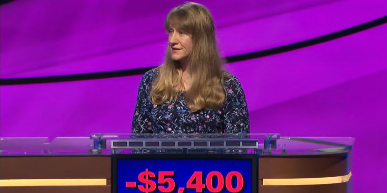 """Priscilla Drobes, a stay-at-home mom from New York, on """"Jeopardy!"""""""