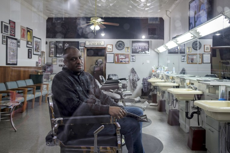 "I'm gonna be here for the community,"" barbershop owner Marvin Smith said. ""I want to know what's going on and be on call."""