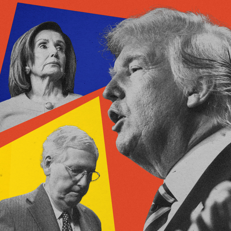 Image: Speaker Nancy Pelosi and the House voted to send impeachment articles against President Donald Trump to the Senate, where Majority Leader Mitch McConnell officially received the House managers on Tuesday, Jan. 21, 2020.
