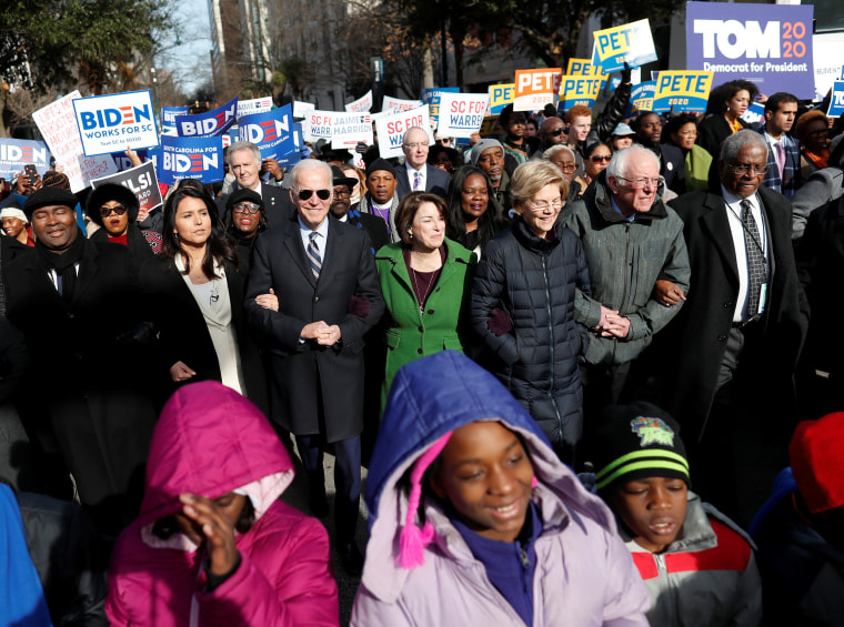 When Is The Christmas Parade In Columbia Sc 2020 Democratic candidates march together on MLK Day amid campaign