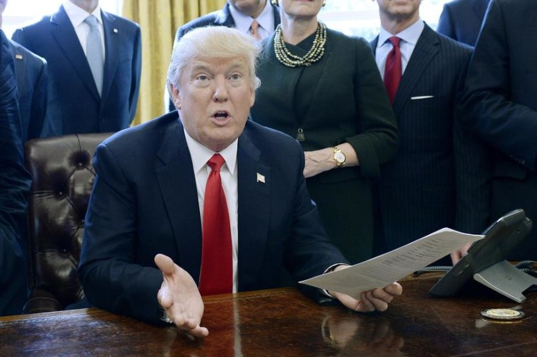 Image: President Trump Signs Executive Order In Oval Office