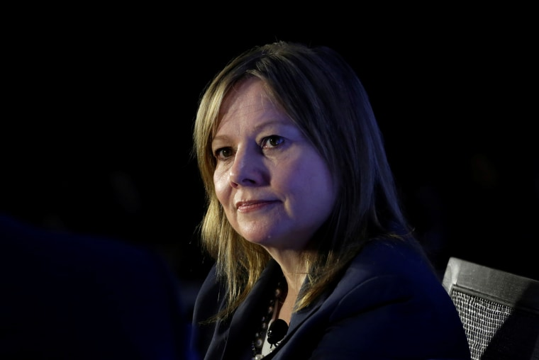 Mary Barra discusses the future of the auto industry and the state of the U.S. economy in Washington on Feb. 28, 2017.