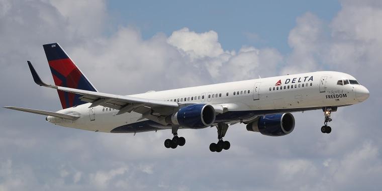 A Delta airlines plane.