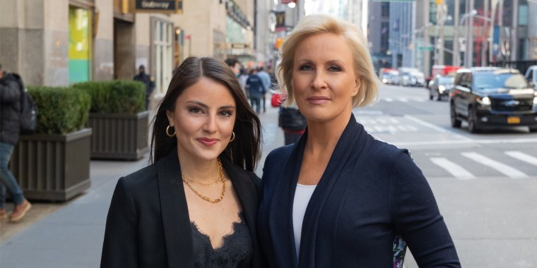 """Mika Brzezinski and Daniela Pierre-Bravo, co-authors of """"Earn It!: Know Your Value and Grow Your Career, in Your 20s and Beyond."""""""