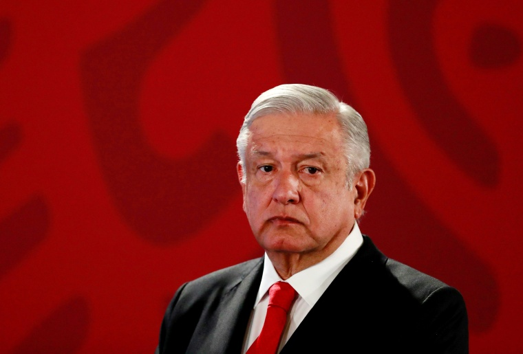 Image: Mexico's President Obrador holds a news conference in Mexico City