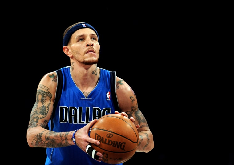 Image: Dallas Mavericks player Delonte West during a game in Los Angeles on April 15, 2012.