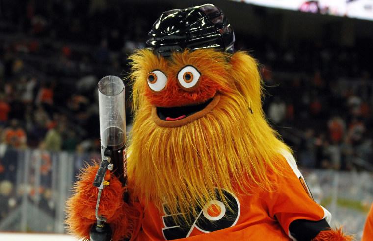 The Philadelphia Flyers mascot, Gritty.