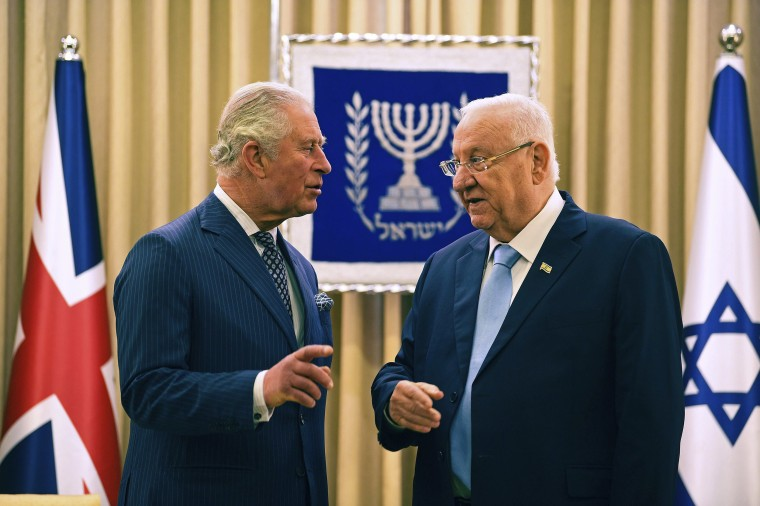 Image: Britain's Prince Charles meets Israel President Reuven Rivlin