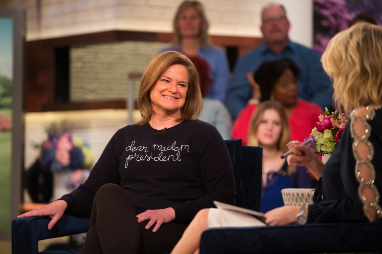 Image: Jennifer Palmieri and Megyn Kelly on Monday, March 26, 2018