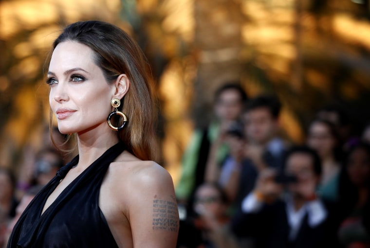 Image: Angelina Jolie arrives at the Screen Actors Guild Awards in Los Angeles in 2012.