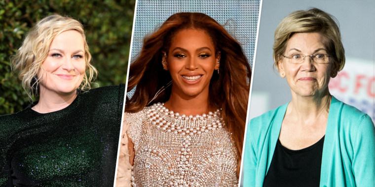 Amy Poehler, Beyonce and Elizabeth Warren