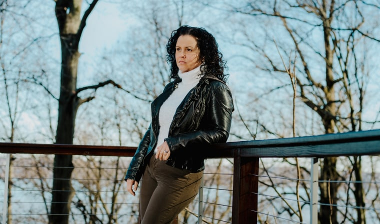 """Image: Jeanine Cummins, author of \""""American Dirt,\"""" in Nyack, N.Y., Jan. 9, 2020. (Heather Sten/The New York Times)"""