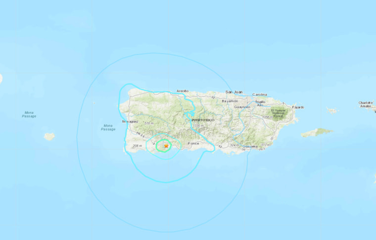 The epicenter of an earthquake that hit Puerto Rico on Jan. 25, 2020, was near the town of Guayanilla.