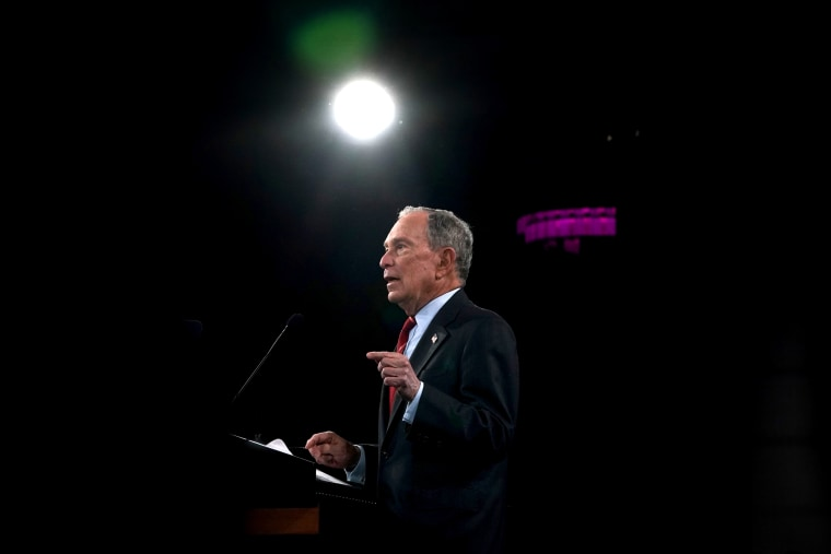Image: Democratic presidential candidate Michael Bloomberg speaks at an event in New York on Jan. 15, 2020.