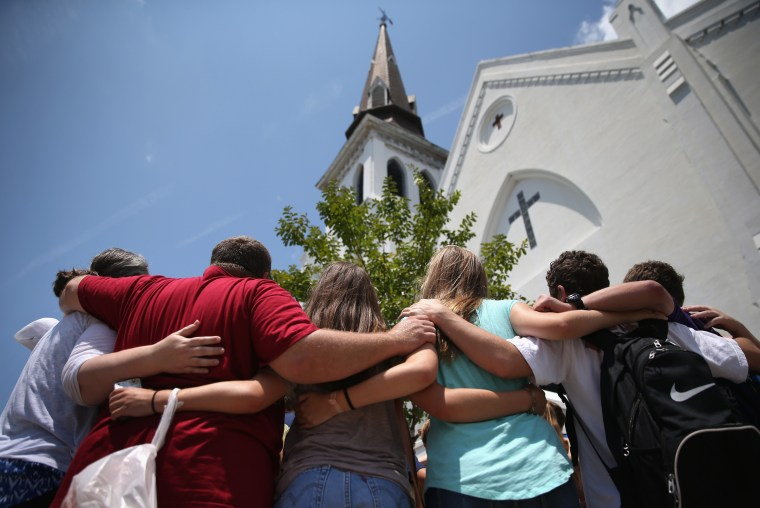 Image: *** BESTPIX *** Charleston Marks One Month Anniversary Of Church Shootings