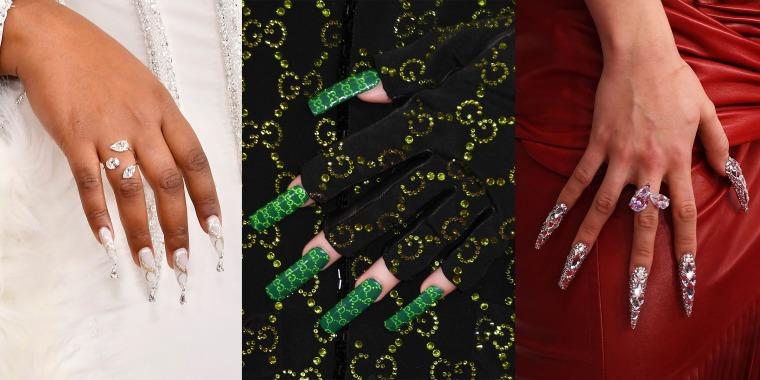 Grammys nail art