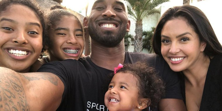 Kobe Bryant, his daughters and wife Vanessa.