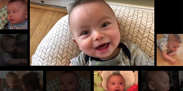 New Jersey dad Matt MacMillan spent a year capturing clips of his infant son Ryan in order to create the ultimate baby video.