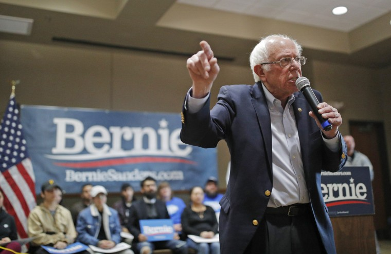 Democratic presidential candidate Sen. Bernie Sanders speaks at a campaign event on Jan. 26, 2020, in Storm Lake, Iowa.
