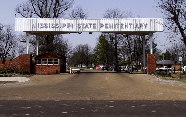 Image: The entrance of the Mississippi State Penitentiary in Parchman.