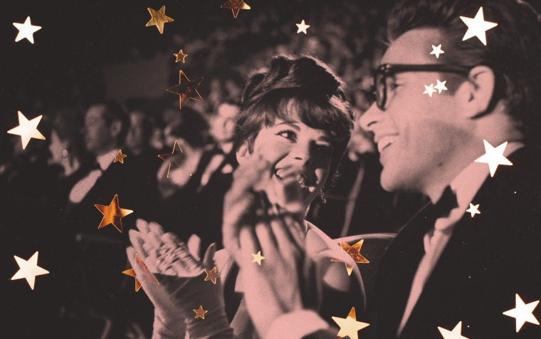 Image: Natalie Wood and Warren Beatty applaud at the Academy Awards in Santa Monica in 1962.