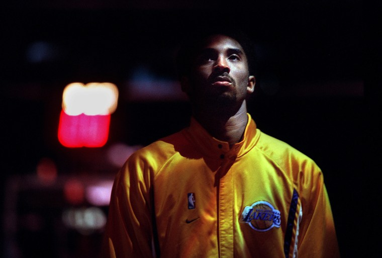 Image: Kobe Bryant before a Los Angeles Lakers Game at the Staples Center.