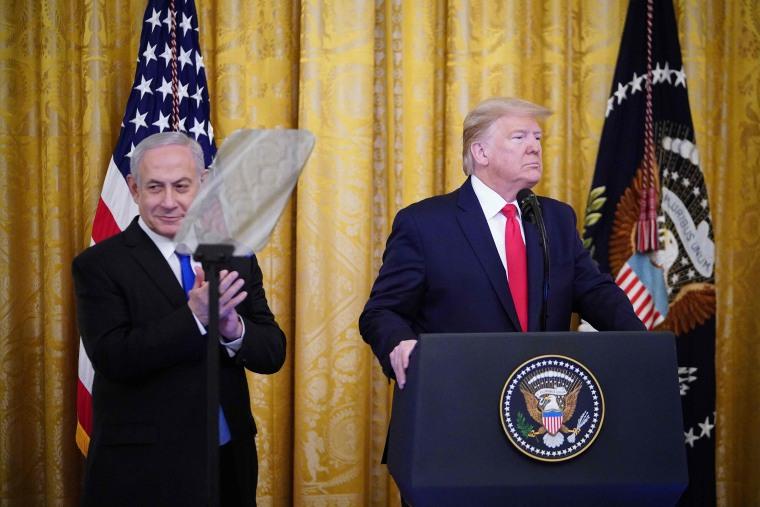 Image: President Donald Trump and Israel's Prime Minister Benjamin Netanyahu
