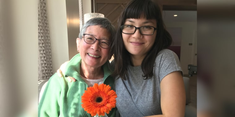 Evan McGonagill with her mother, Lanng Tamura. McGonagill put her career on hold to take care of her mother, who has been suffering from a major neurocognitive disorder, a precursor to Alzheimer's.