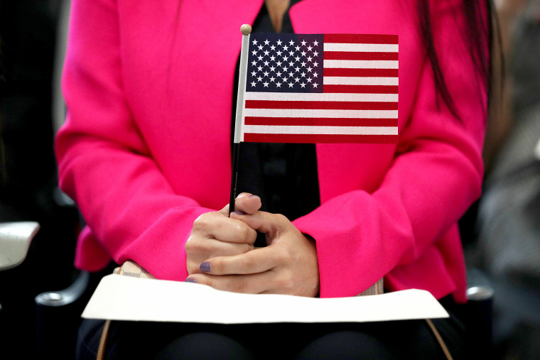 Immigrants Become U.S. Citizens During Naturalization Ceremony In Miami