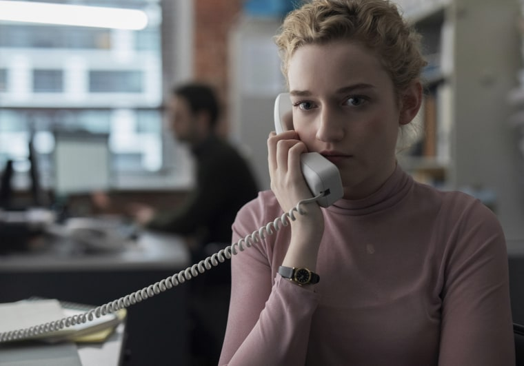 "Image: Julia Garner in a scene from ""The Assistant."""