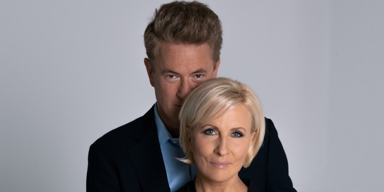 "An unedited photo of ""Morning Joe"" co-hosts Joe Scarborough and Mika Brzezinski."