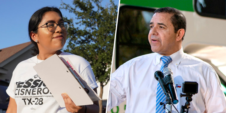Jessica Cisneros and Rep. Henry Cuellar.
