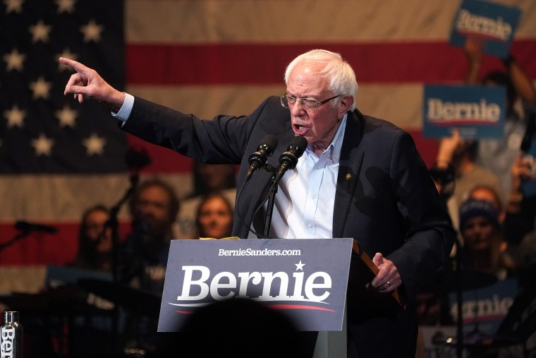 Image: U.S. Democratic presidential candidate Senator Sanders speaks during a rally in Cedar Rapids