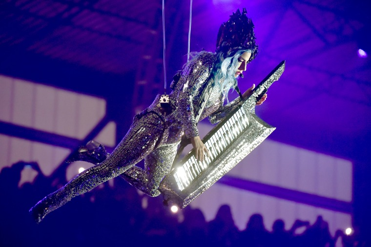 Image: Lady Gaga performs during the AT&T TV Super Saturday Night in Miami on Feb. 1, 2020.