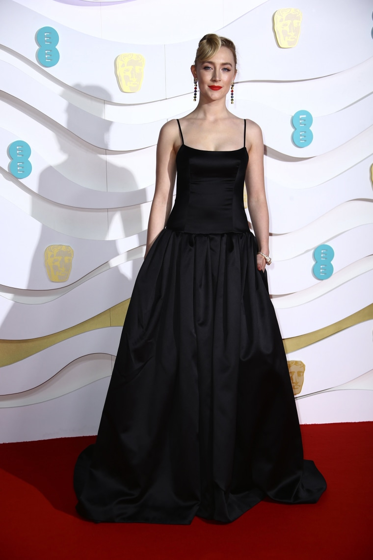 Saoirse Ronan BAFTAs red carpet