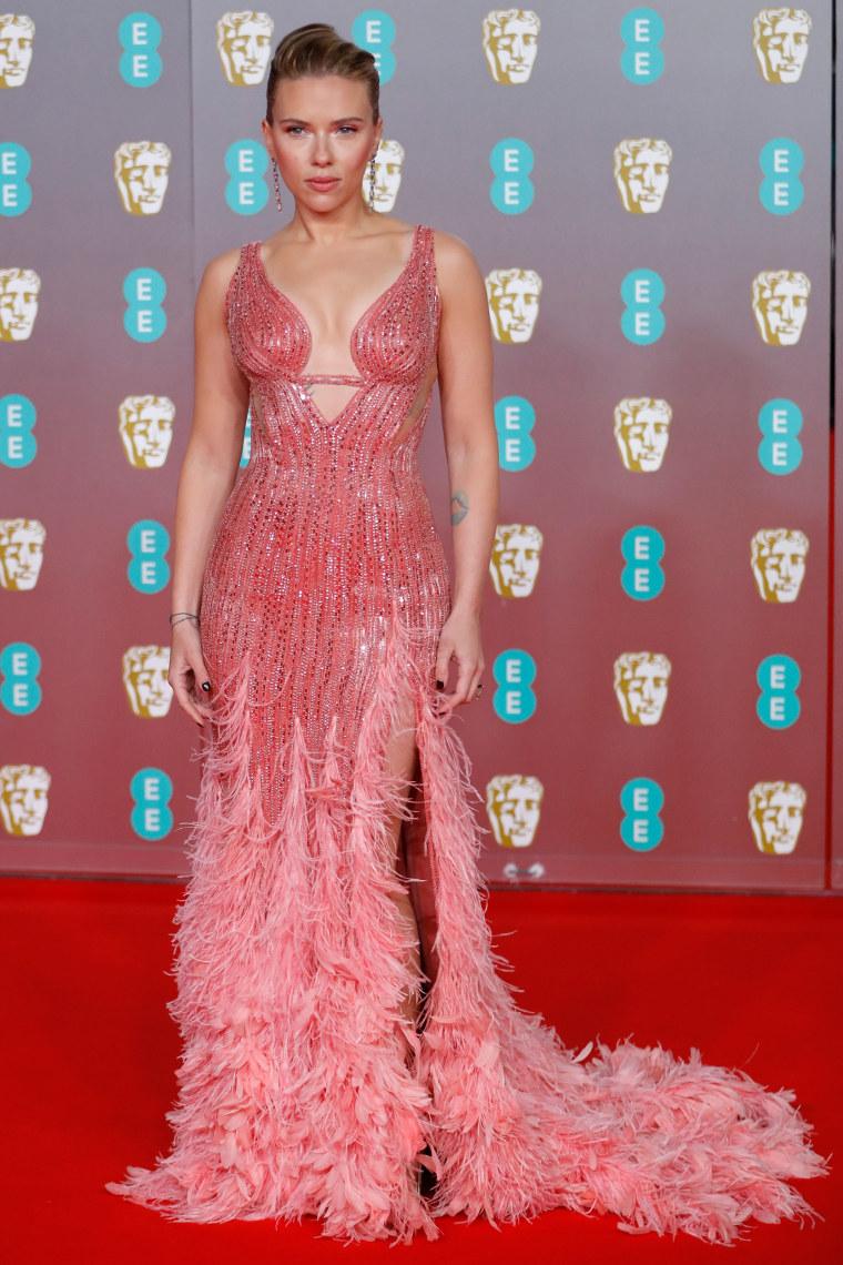 Scarlett Johansson BAFTAs red carpet