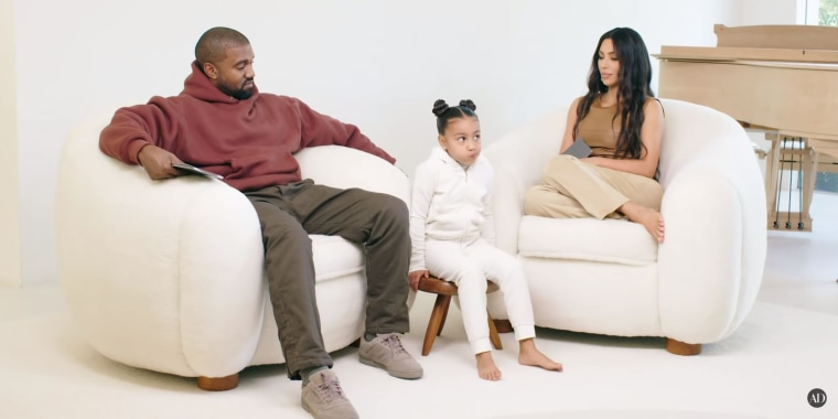 Midway through their chat, Kanye West and wife Kim Kardashian West realized the real star of the interview was their daughter, North.