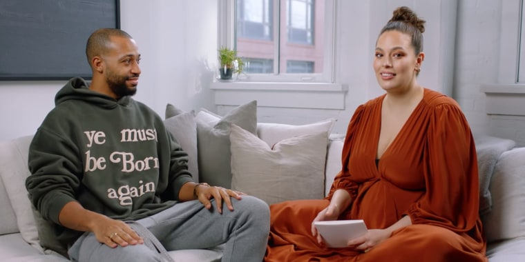 Ashley Graham and husband Justin Ervin discuss the emotional moments leading up to the birth of their son on an episode of Graham's podcast.