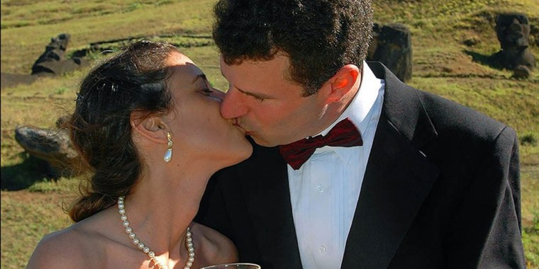 Jeff Salvage has staged 297 photo shoots of his wife wearing her wedding dress.